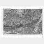 Carte de l'état-major  - Feuille 223 FORCALQUIER - Taille Douce