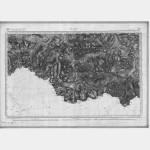 Carte de l'état-major  - Feuille 251 LUZ - Taille Douce