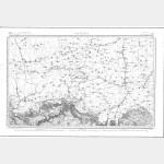 Carte de l'état-major  - Feuille 25 LONGWY - Taille Douce