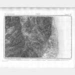 Carte de l'état-major  - Feuille 263 CORTE - Taille Douce