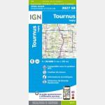 Tournus - Lugny - Carte IGN Série Bleue