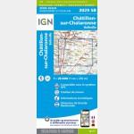 Chatillon-sur-Chalaronne - Belleville - Carte IGN Série Bleue