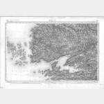 Carte de l'état-major  - Feuille 57 BREST - Taille Douce