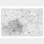 Carte de l'état-major  - Feuille 5 LILLE - Taille Douce