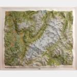 Relief du Massif du Mont Blanc