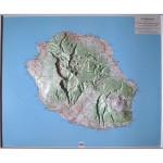 La Réunion - Carte en Relief 1
