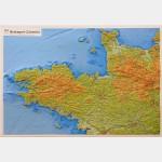 Carte en relief - Bretagne/Cotentin - Entière