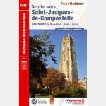 FFR - 6551 - Sentier vers Saint-Jacques-de-Compostelle : Bruxelles-Paris-Tours