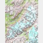 Poster Massif du Mont-Blanc Plastifié