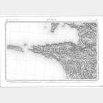 Carte de l'état-major  - Feuille 72 QUIMPER - Taille Douce