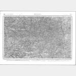 Carte de l'état-major  - Feuille 75 RENNES - Taille Douce