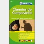 carte Michelin - zoom n°161 - Chemins de Compostelle