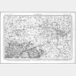 Carte de l'état-major  - Feuille 9 MAUBEUGE - Taille Douce