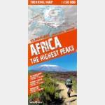 Carte de trekking  Afrique, les plus hauts sommets