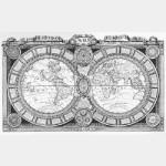 Le Monde Connu en 1688  (Taille-Douce)