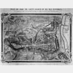 Carte ancienne - Plan du Parc de Saint-Cloud et de ses Environs