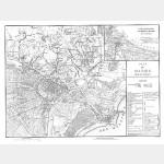 DANTZIG plan du siège (23-4-1807) avec emplacement des troupes - format 56 cm x