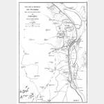 PYRAMIDES plan de bataille (21-7-1798) avec mouvement des troupes - format 31 cm