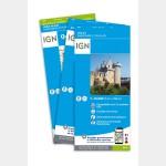 Pack : GR®2 de Cartes IGN 1:25.000 -  1/2 - 1er tronçon de Dijon à Soisy-sur-Seine