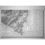 Carte ancienne - Bonifacio feuille 8 sur 8 (Taille-douce)Corse de Tranchot de 1824