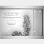 Carte ancienne Bastia feuille 2 sur 8 (offset)Corse de Tranchot de 1824