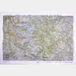 Carte en relief Ecrins - Queyras IGN
