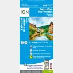 3617OT Saint-Die/Raon-L'Etape/Bruyeres (Club Vosgien) (Carte)