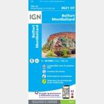 3621OT Belfort/Montbeliard/Hericourt/Aire Urbaine 2000 (Club Vosgien) (Carte)