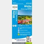 3713ET Pays de Bitche/Pnr des Vosges du Nord (Club Vosgien) (Carte)