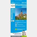 3914OT Wissembourg/Lauterbourg/Soufflenheim/Plaine du Rhin (Club Vosgien) (Carte)