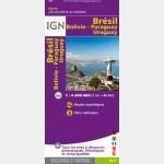 Carte du Brésil - recto