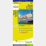 Carte Touristique - Rouen/Le Havre - Recto
