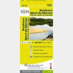 Carte Touristique  Bordeaux Mont-de-Marsan - recto