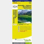 Carte Touristique - Grenoble/Valence/Montélimar - Recto