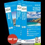Pack : GR®34 de Cartes IGN 1:25.000 - 3/4 - 3e tronçon de Kerprigent à Kerouini