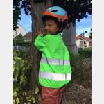 Coupe-vent enfant vert Dos
