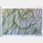Belledonne - Vanoise - Carte en Relief