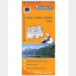 Carte Régionale Michelin (2013) - Suisse Nord