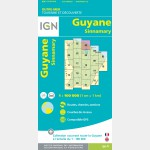 Carte Guyane Sinnamary IGN - recto