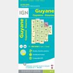 Carte Guyane Cayenne IGN - recto