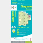 Carte Guyane Ouanary IGN - recto