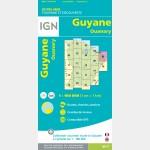 Carte Guyane Ouanary IGN - recto