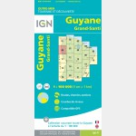 Carte Guyane Grand-Santi IGN - recto
