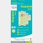 Carte Guyane Mana IGN - recto