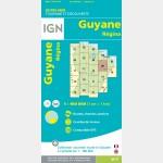 Carte Guyane Régina IGN - recto