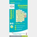 Carte Guyane Saint-Georges IGN - recto