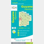 Carte Guyane Papaïchton IGN - recto