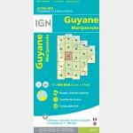 Carte Guyane Maripasoula IGN - recto