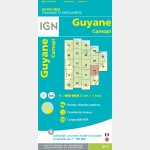 Carte Guyane Camopi IGN - recto