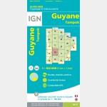 Carte Guyane Tampok IGN - recto